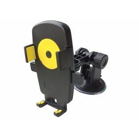 Suporte Veícular Car Holder para GPS e Celular com Botão de Travamento e Destravamento Cores Sortidas