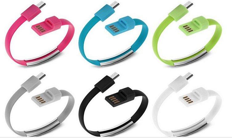Cabo de Dados Pulseira USB entrada para Iphone 5-5C-5S-6-6Plus Cores Sortidas