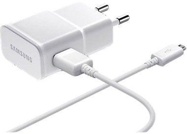 Carregador Para Celular Tomada USB Entrada V8 1ª Linha Qualidade Original Marca Samsung na Cor Branca ou Preta