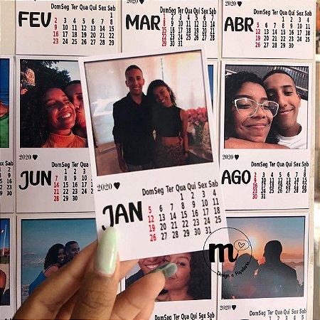 Calendário Polaroid