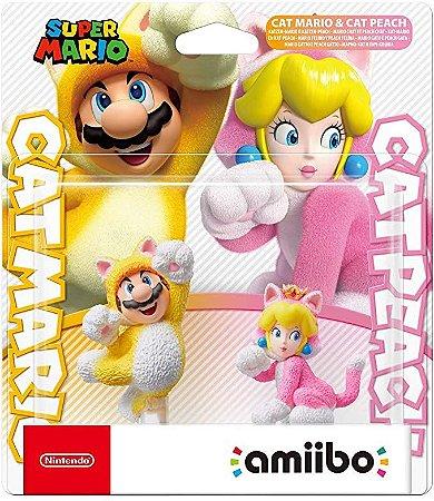 Amiibo Novo Cat Mario & Cat Peach Super Mario