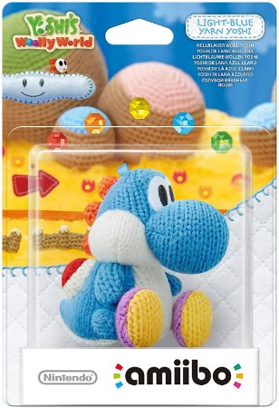 Amiibo Novo Yarn Yoshi Light-Blue (Yoshi's Wooly World)