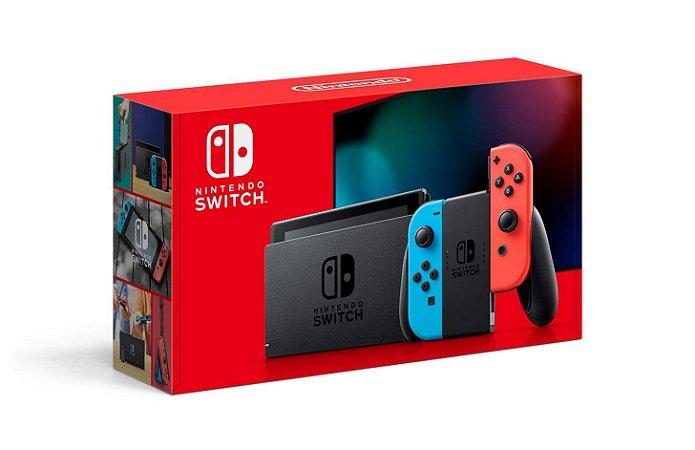 Console New Nintendo Switch Neon 32GB Novo