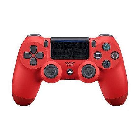 Periférico Dualshock 4 Vermelho PS4 Novo