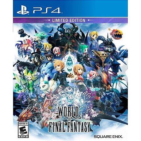 Jogo World of Final Fantasy Limited Edition PS4 Novo