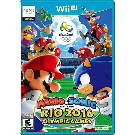 Jogo Mario & Sonic At The Rio 2016 Olympic Games Nintendo WiiU Usado