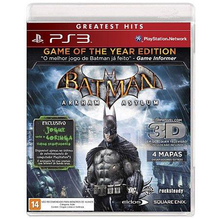 Jogo Batman: Arkham Asylum PS3 Usado
