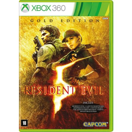 Jogo Resident Evil 5 X360 Usado