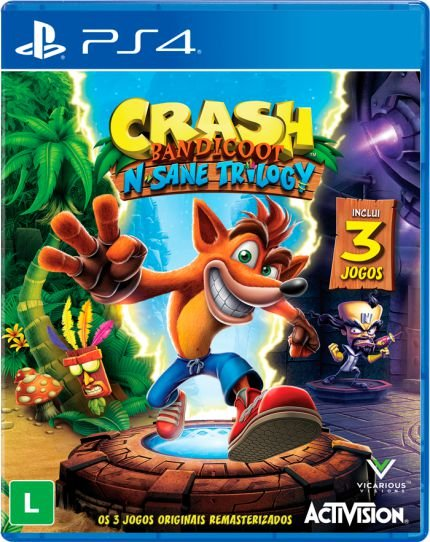 Jogo Crash Bandicoot N'Sane Trilogy PS4 Usado