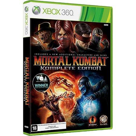 Jogo Mortal Kombat Komplete Edition X360 Usado