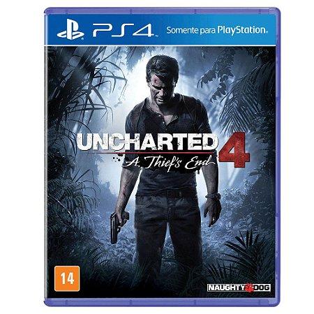 Jogo Uncharted 4 Thief`s End  PS4 Usado