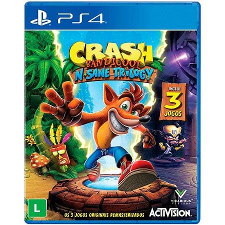 Jogo Crash Bandicoot N'Sane Trilogy PS4 Novo