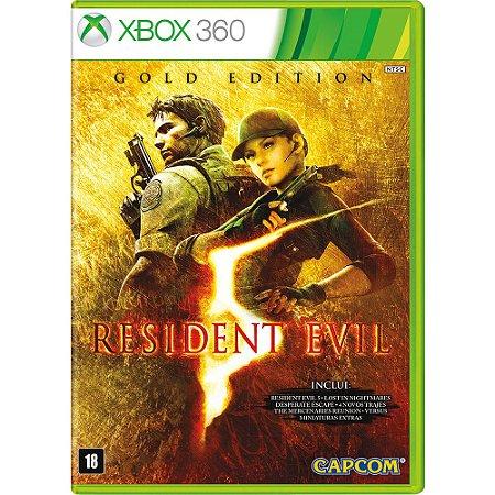 Jogo Resident Evil 5 Gold Edition X360 Usado