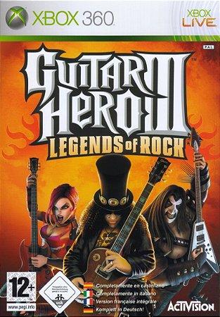 Jogo XBOX 360 Usado Guitar Hero III Legends of Rock