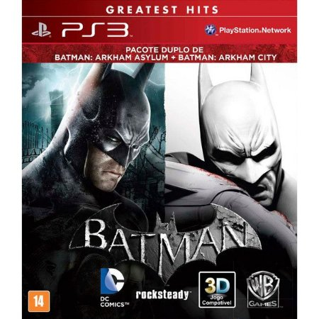 Jogo PS3 Usado Pacote Duplo: Batman Arkham Asylum + Arkham City
