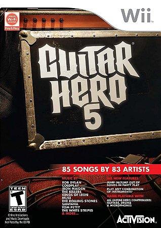 Jogo Wii Usado Guitar Hero 5
