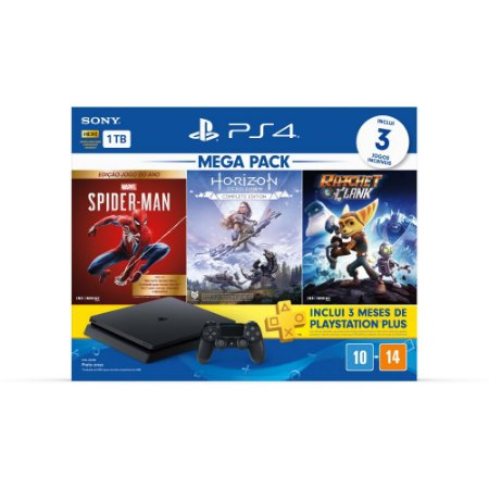 Console PS4 Hits Bundle V15 Novo