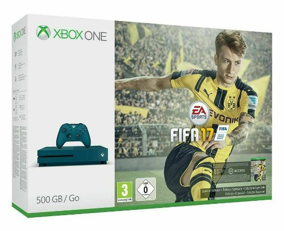 Console XBOX ONE S FIFA 17 Bundle 500GB Deep Blue