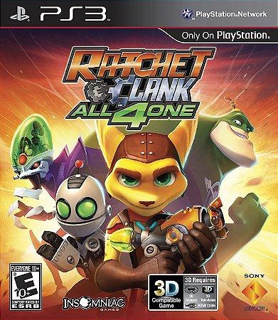 Jogo PS3 Usado Ratchet & Clank All 4 One