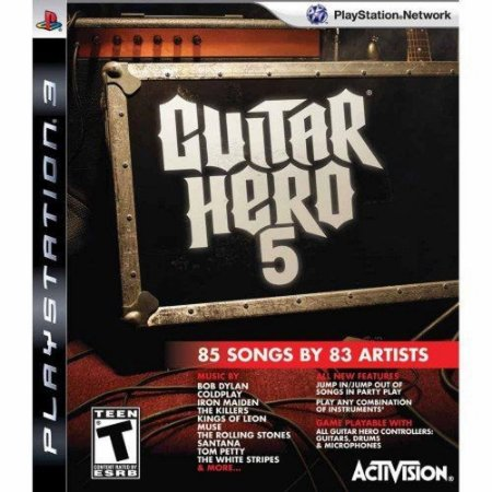 Jogo PS3 Usado Guitar Hero 5