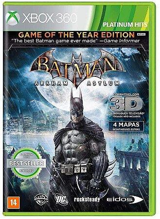 Jogo XBOX 360 Usado Batman Arkham Asylum Game of the Year Edition