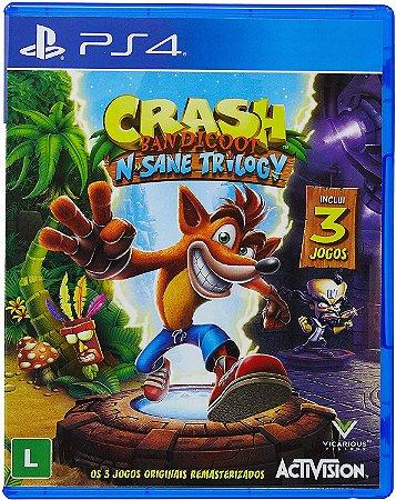 Jogo PS4 Usado Crash Bandicoot N'Sane Trilogy