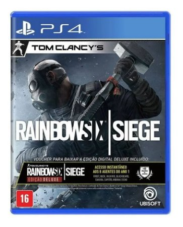 Jogo PS4 Novo Rainbow Six Siege Deluxe Edition