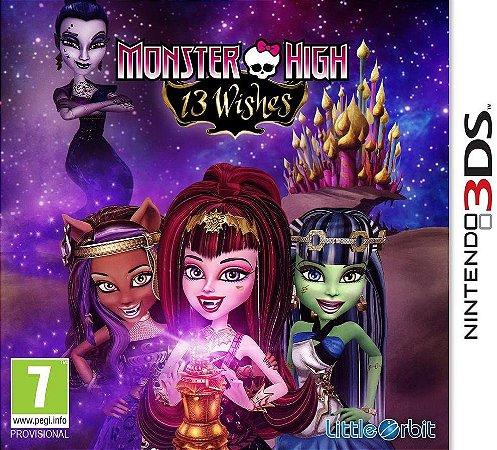 Jogo Nintendo 3DS Novo Monster High 13 Wishes