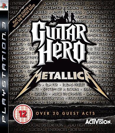 Jogo PS3 Usado Guitar Hero Metallica