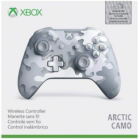 Periférico Novo Controle Xbox One Arctic Camo