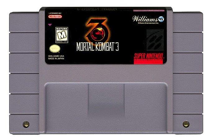 Jogo SNES Usado Mortal Kombat 3