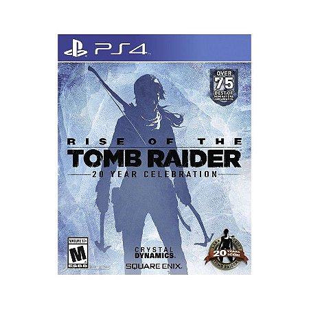 Jogo PS4 Usado Rise of The Tomb Raider 20th Year Celebration