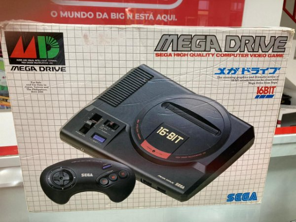Console Usado Mega Drive 16-Bit Original Japonês