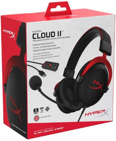 Headset Novo HyperX Cloud II PC/PS4/Xbox One Com Fio