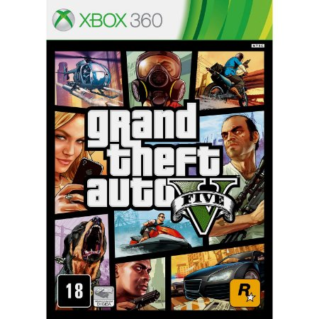 Jogo XBOX 360 Novo Grand Theft Auto V