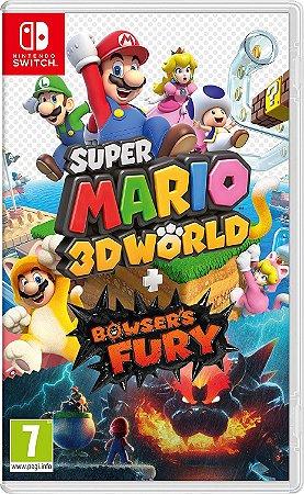 Jogo Switch Novo Super Mario 3D World + Bowser's Fury