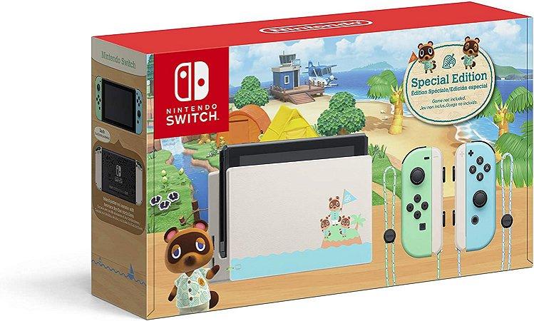 Console Nintendo Switch Edição Animal Crossing