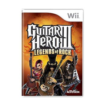 Jogo Wii Usado Guitar Hero III: Legends of Rock