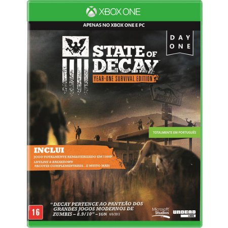 Jogo XBOX ONE Novo State Of Decay: Year-one Survival Edition