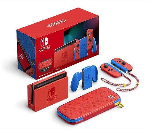 Console Novo Switch 32GB Mario Red & Blue Edition