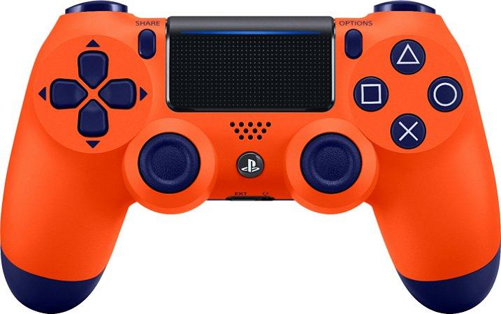 Periférico PS4 Usado Dualshock 4 Sunset Orange