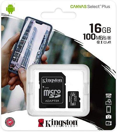 SD Card Novo Kingston Canvas Select Plus 16GB
