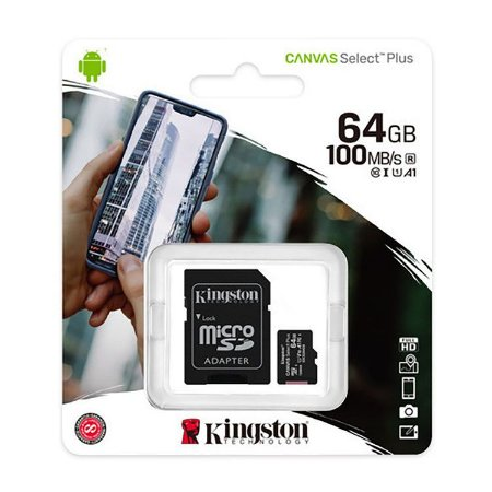 SD Card Novo Kingston Canvas Select Plus 64GB