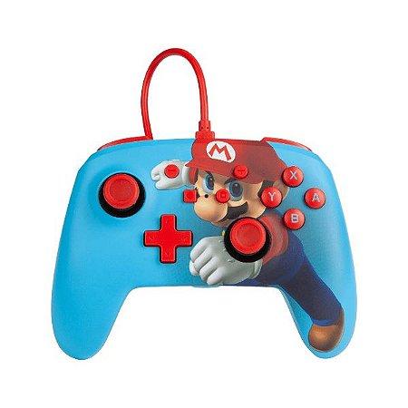 Controle Switch Novo PowerA  Mario Punch