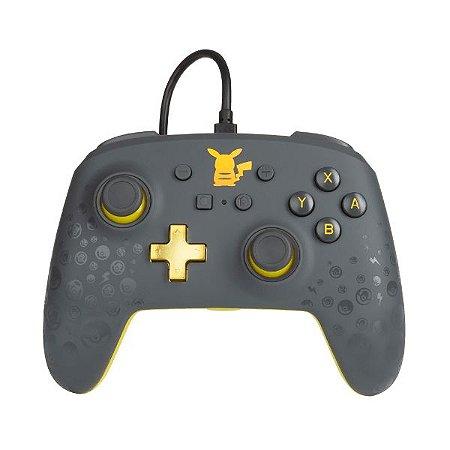 Controle Switch Novo PowerA  Pikachu Grey