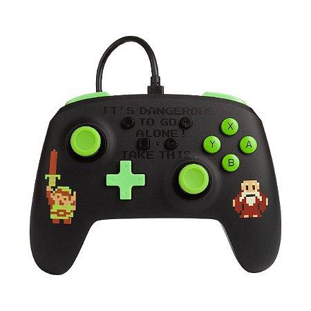 Controle Switch Novo PowerA  Retro Zelda
