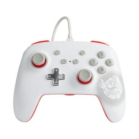 Controle Switch Novo PowerA  Mario White