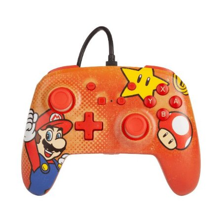 Controle Switch Novo PowerA Mario Vintage