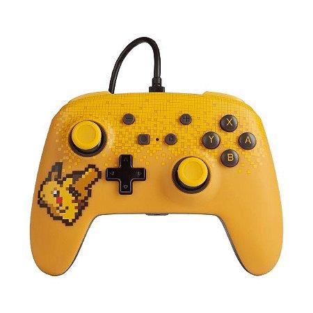 Controle Switch Novo PowerA Pixel Pikachu