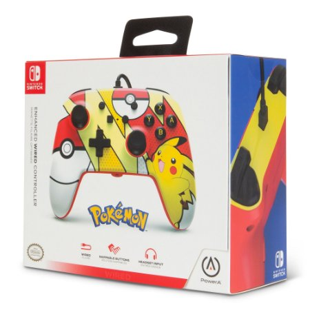 Controle Switch Novo PowerA Pikachu Pop Art